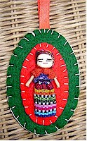 Ornament and photo by Erin of La Chapina Huipil Crafts