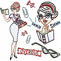 Sexy Librarians designs from Sublime Stitching