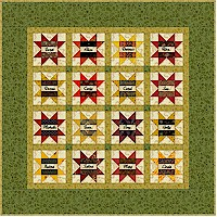 Little Friendship Star quilt by Janet Wickell