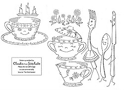 Vintage embroidery patterns from Workbasket