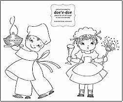 Free pattern: Baker and French maid