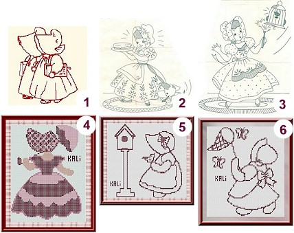 Free Patterns And Charts Sunbonnet Sue Needle Work Fascinating Sunbonnet Sue Patterns