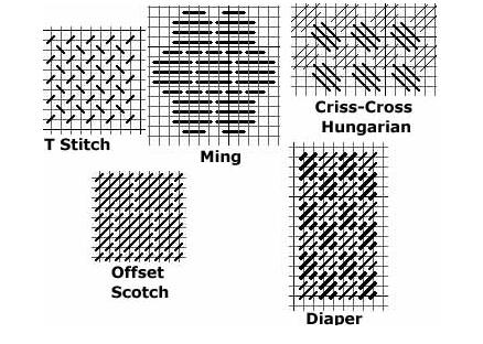 Best needlepoint background stitches
