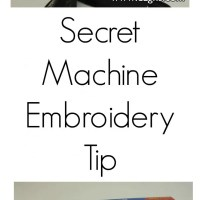Great Machine Embroidery Tip