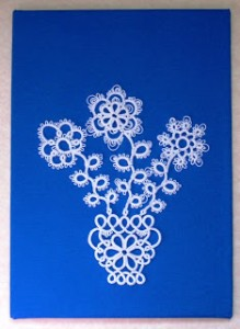 Stawasz Flower Pot I White on Blue