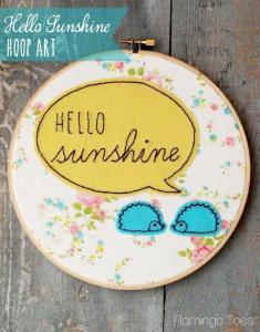 Hello-Sunshine-Hoop-Art