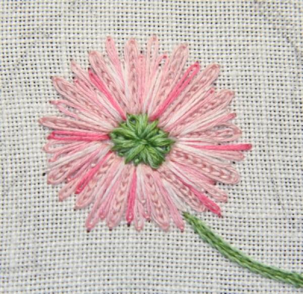 Embroidered flower tutorials needle work