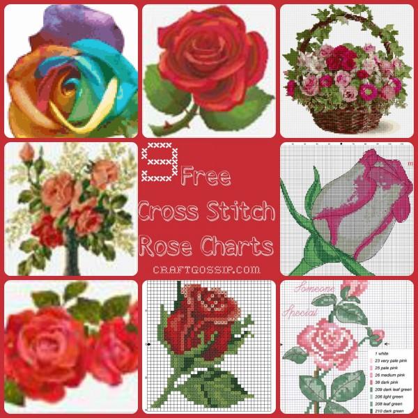 Rose Cross Stitch Charts Cross Stitch