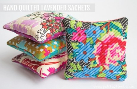 Hand Quilted Lavender Sachet