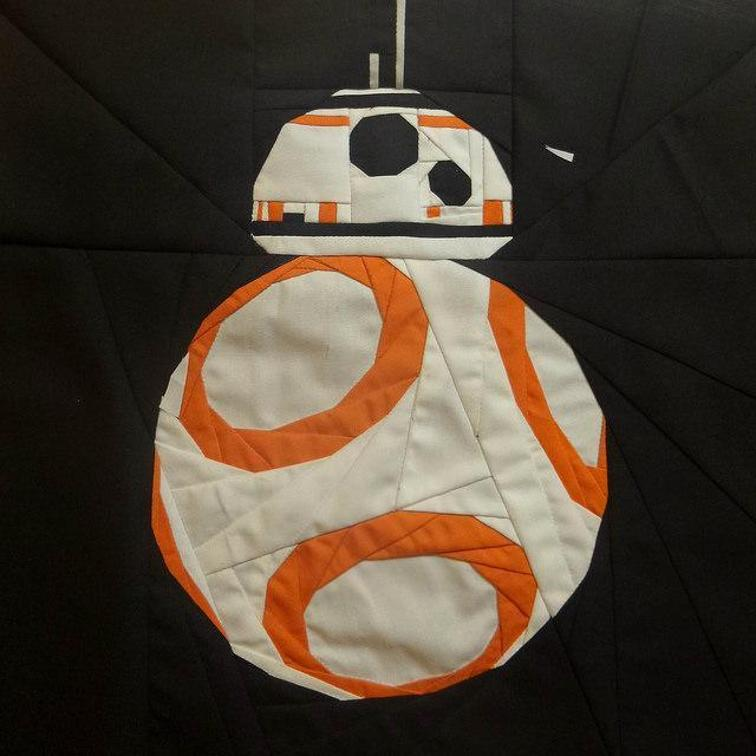 Free Pattern To Make A Bb 8 Droid Star Wars Quilt