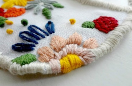 Embroided Pendant