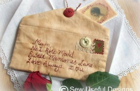 Dear Mom Embroidered Letter Pattern