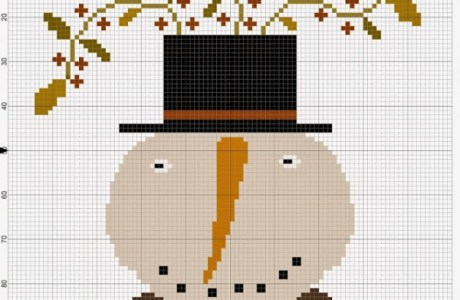 Embroidery Chart – Primitive Snowman