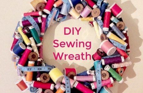 DIY Sewing Wreath