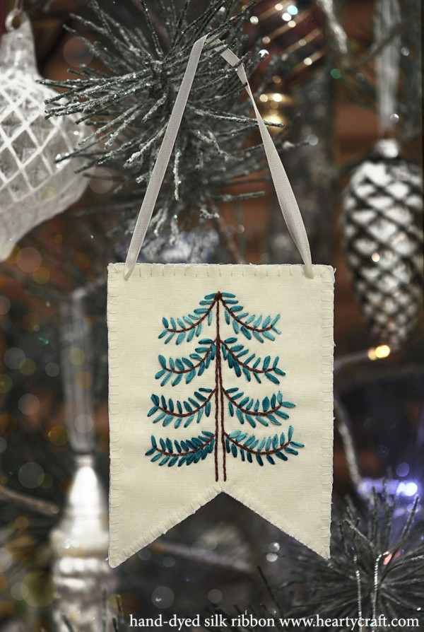 Ribbon Embroidery Christmas Tree