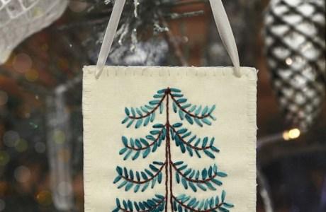 Ribbon Embroidery Christmas Tree