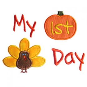 Machine Embroidery Pattern  -Thanksgiving
