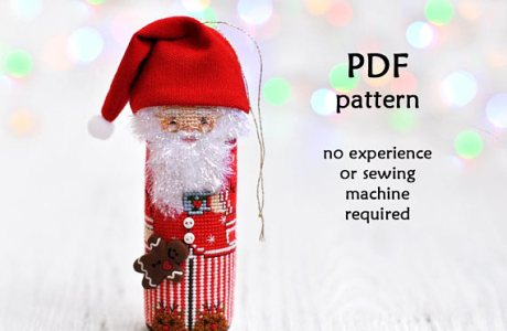 Santa In Pajamas Pattern