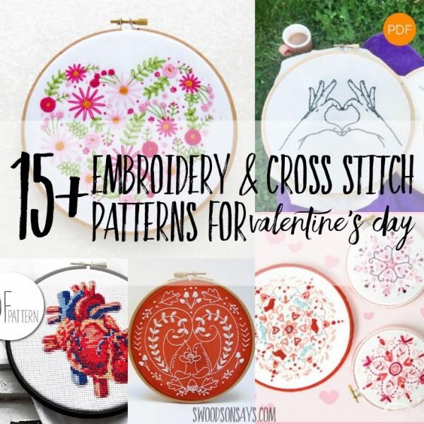 15 Cross Stitch Patterns For Valentine's Day