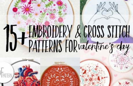 15 Cross Stitch Patterns For Valentine's Day