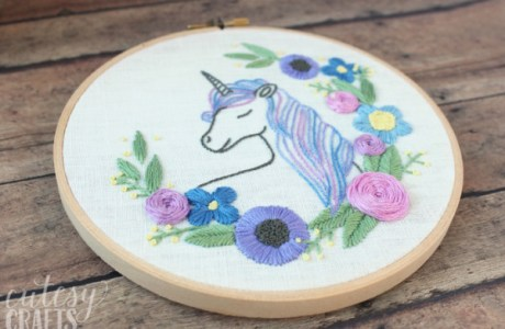 Free Unicorn Embroidery Pattern