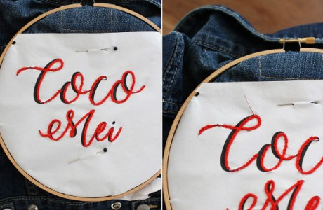 DIY Denim Embroidery