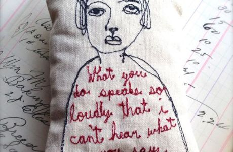 Embroidery Inspiration – Free Motion Pillow Dolls