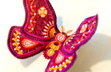Machine Embroidery Dimensional Butterfly