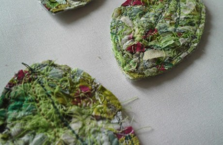 Fabric Scraps Turned Into Textured Fabric