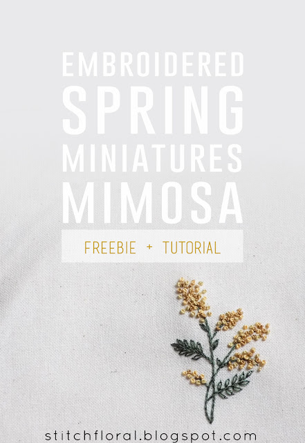Hand Embroidery Tutorial ? Mimosa