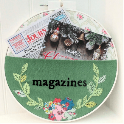 DIY Embroidered Magazine Hoop