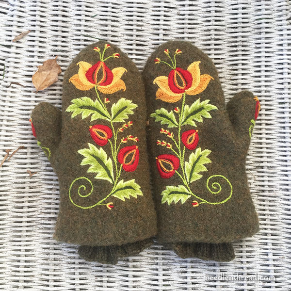 Tutorial- Embroidery On Wool Mittens