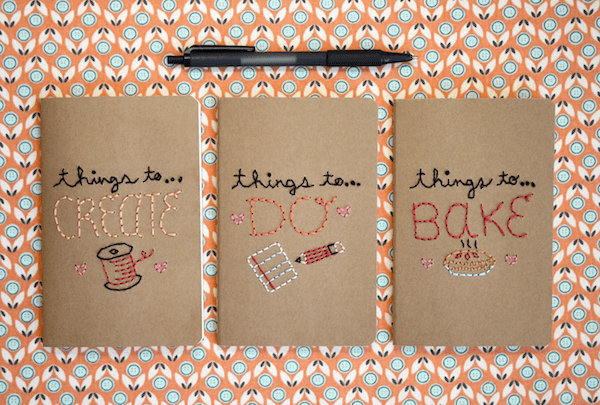 How to make embroidered notebooks