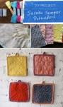 DIY Sashiko Embroidery Pot Holders
