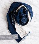 Sashiko Embroidery Scarf Tutorial