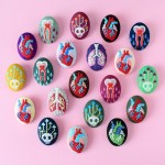 Embroidered Anatomy Brooches