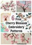 The Prettiest Cherry Blossom Embroidery Designs