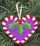Free Punch Needle Candy Cane Ornament Pattern