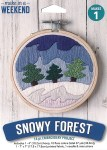 Trees in the Snow Embroidery Kit