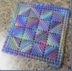 Plastic Canvas Needlepoint Coasters Tutorial
