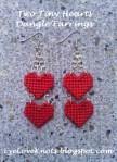 Tiny Hearts Plastic Canvas Dangle Earring Tutorial