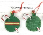 Free Pattern In The Hoop - ITH - Christmas Bauble Candy Cane