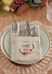 Hand Embroidered Happy New Year Napkins - Free Pattern