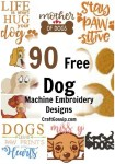 90 Free Dog Machine Embroidery Designs