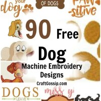 90 Free Dog Machine Embroidery Designs