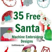 35 Free Christmas Santa Machine Embroidery Designs