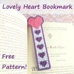 Heart Bookmark - Free Plastic Canvas Pattern