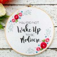 Free Encouragement Hand Embroidery Pattern