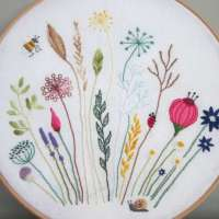 Free Flower Meadow Hand Embroidery Pattern