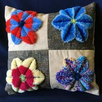 How to Make a German Tufted Embroidery Pillow